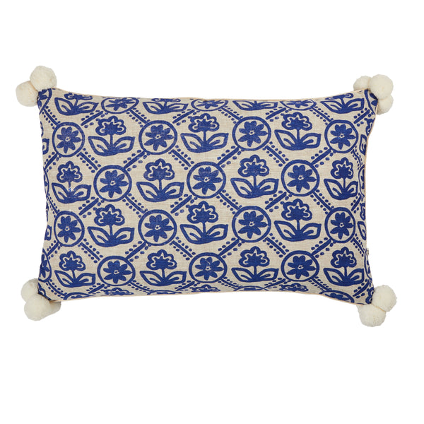 Bonnie and Neil Primula Yves Klein Cushion 60x40cm in blue