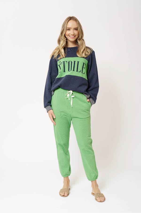 Alessandra Razz sweat pant in lime green