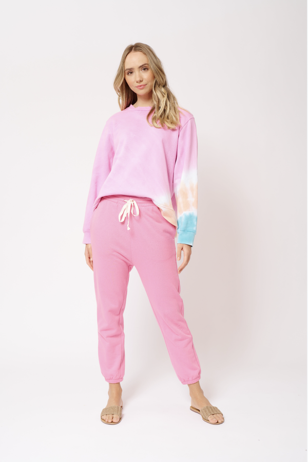 Alessandra Razz sweat pant in lolly pink