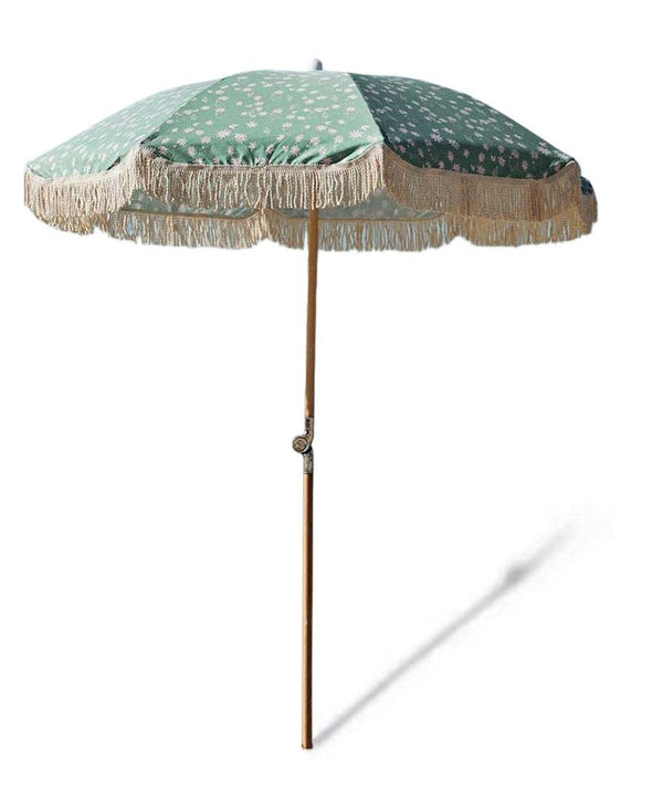 BEACH UMBRELLA | Flannel Flower with Ash Wood Pole | Salty Shadows