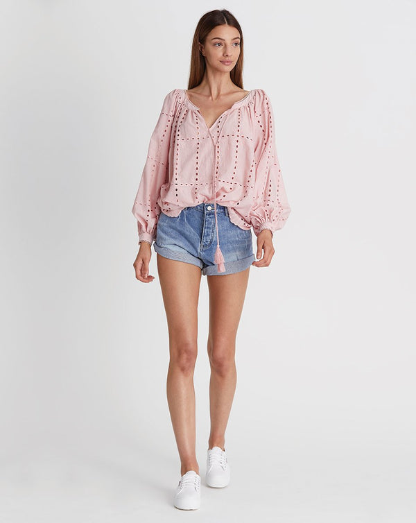 We Are Kindred Sara Blouse in Blush