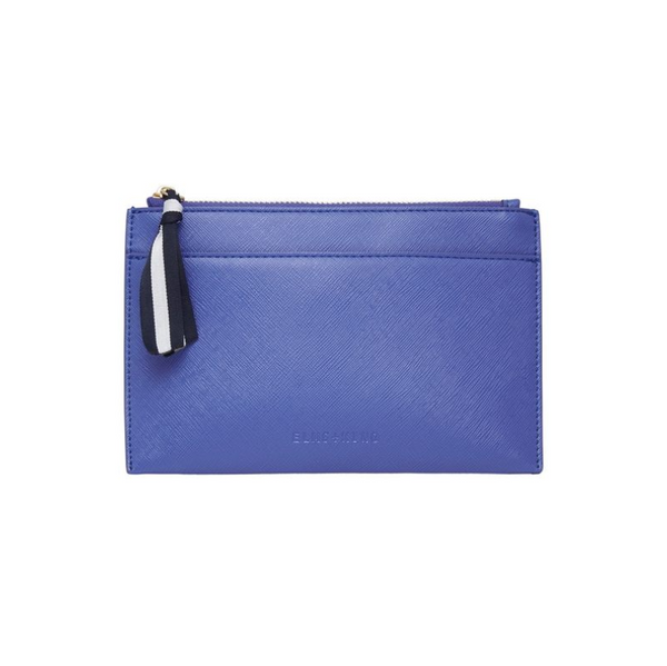 elms and king New York coin purse cornflower blue
