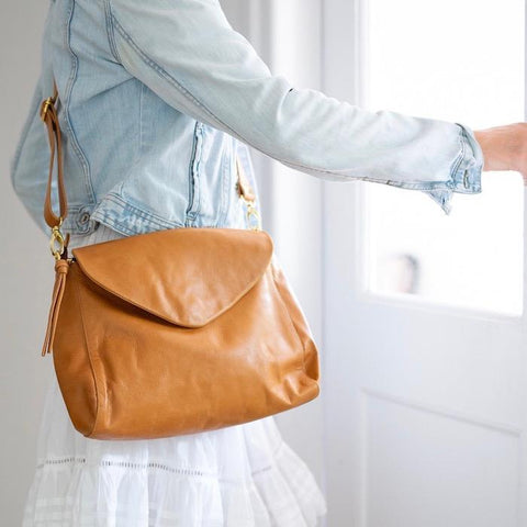 BAHRU SINGAPORE LEATHER BAG | Caramel