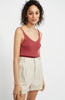 Staple the Label Cresent Knit Tank in Masala