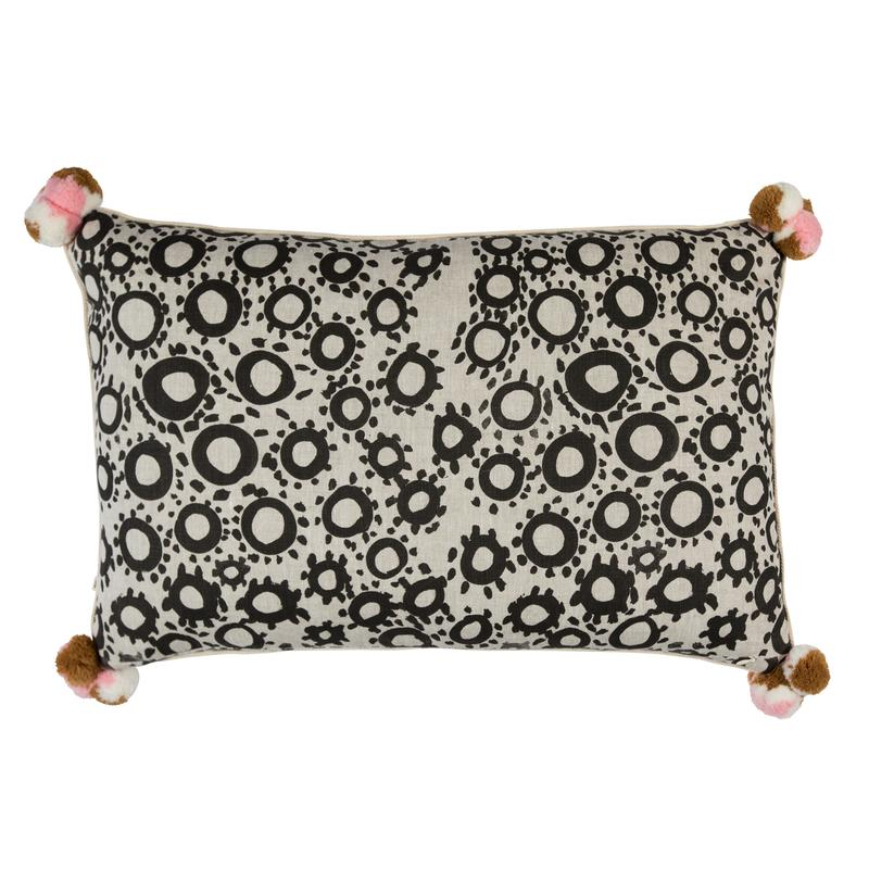 Bonnie and Neil Tea Rose Cushion 74x45cm in pink