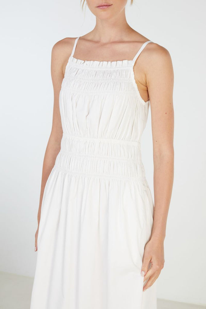 Elka Collective Theory Dress in white
