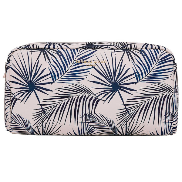 BOX WASH BAG | Blue Palm | Fenella Smith