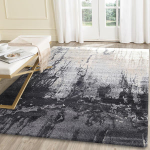 Morisot Grey and Beige Abstract Rug