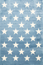 Load image into Gallery viewer, Piccolo  Blue and White Stars Kids Rug