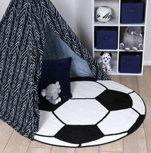 Load image into Gallery viewer, Nova Kids Soccer Ball Round Rug