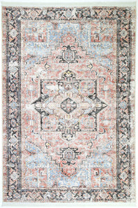 VINTAGE EMPRESS DISTRESSED RUBY-BEIGE RUG