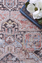 Load image into Gallery viewer, VINTAGE EMPRESS DISTRESSED RUBY-BEIGE RUG