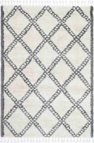 Casablanca Leta Diamond Cream Grey Rug