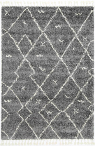 Casablanca Mizzie Tribal Grey Cream Rug