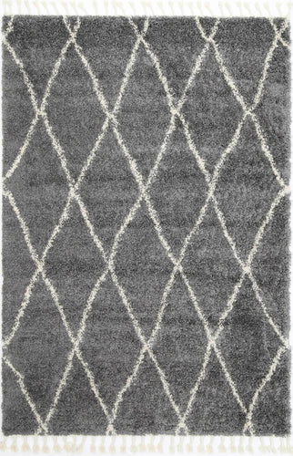 Casablanca Clara Diamond Tribal Grey Rug