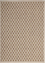 Load image into Gallery viewer, Hawaii Brown Beige Bordered Diamond Pattern Ikat Rug