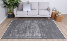 Load image into Gallery viewer, Rustic Vintage Distressed, Amazing 2 in 1 Reversible Rug Grey