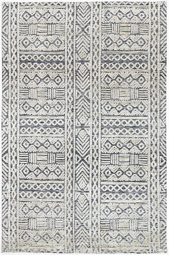 Barkot Tribal Navy Rug freeshipping - Rug Empire