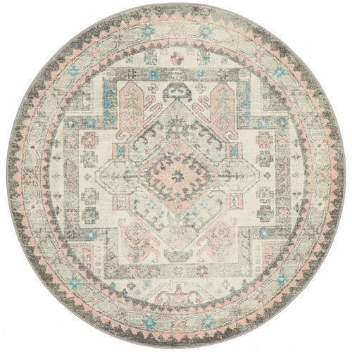 Palace 704 Silver Round Rug