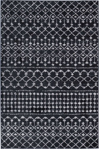Hamilton Tribal Anthracite Rug freeshipping - Rug Empire