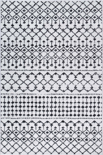 Hamilton Black White Rug freeshipping - Rug Empire