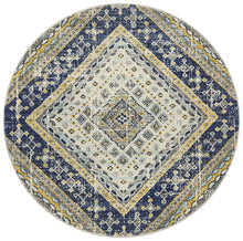 Load image into Gallery viewer, Babylon 203 Navy  Round Rug