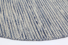 Load image into Gallery viewer, Scandi Blue Reversible Wool Round Rug
