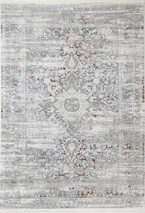 Sylvania Medalion Grey Multi Rug - Rug Empire