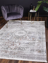 Load image into Gallery viewer, Sylvania Medalion Grey Multi Rug - Rug Empire