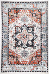 Florence Traditional Terracotta Charcoal Rug freeshipping - Rug Empire