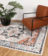 Load image into Gallery viewer, Florence Traditional Terracotta Charcoal Rug freeshipping - Rug Empire
