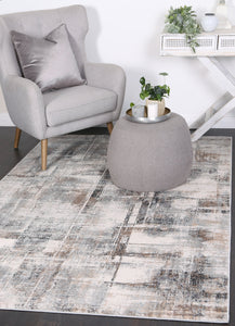 Kirribilli Beige Grey Modern Rug - Rug Empire