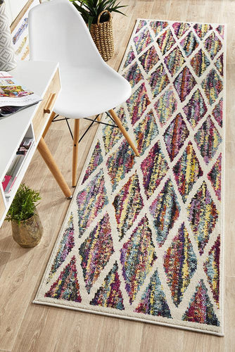 Galaxy Modern 502 Multi Coloured Runner Rug