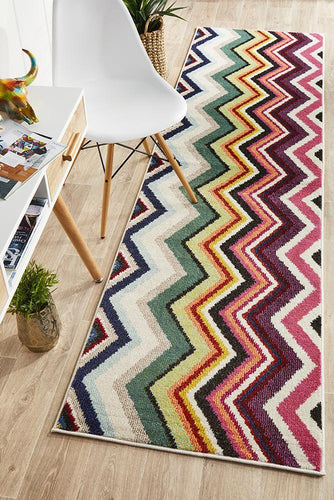 Galaxy Modern 504 Multi Coloured Runner Rug