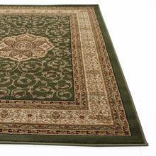Load image into Gallery viewer, Istanbul Collection Medallion Classic Pattern Green Rug