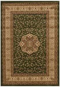 Istanbul Collection Medallion Classic Pattern Green Rug