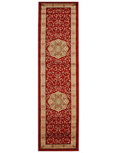 Load image into Gallery viewer, Istanbul Medallion Classic Pattern Runner Rug Red