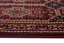 Load image into Gallery viewer, Istanbul Collection Traditional Afghan Design Burgundy Red Rug