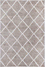 Load image into Gallery viewer, Paisley Diamond Mocha Rug freeshipping - Rug Empire