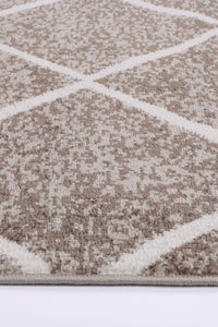 Paisley Diamond Mocha Rug freeshipping - Rug Empire