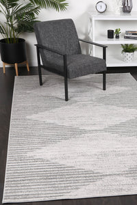 Paisley Abstract Diamond Grey Rug freeshipping - Rug Empire