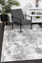 Load image into Gallery viewer, Paisley Transitional Geometric Silver Rug freeshipping - Rug Empire