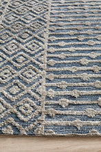 Load image into Gallery viewer, Levi Corey Navy Grey Rug - Rug Empire
