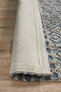 Levi Corey Navy Grey Rug - Rug Empire