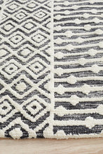 Load image into Gallery viewer, Levi Emma Ivory Black Rug - Rug Empire