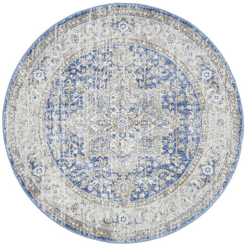 Jervis Ocean Round Rug freeshipping - Rug Empire