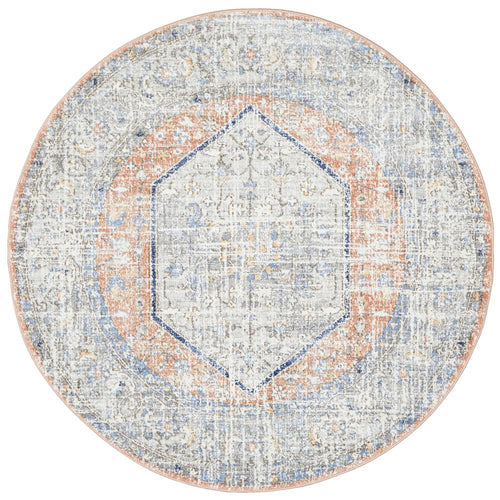 Jervis Peach Round Rug freeshipping - Rug Empire