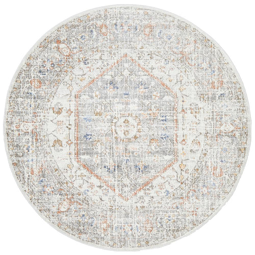 Jervis Silver Round Rug freeshipping - Rug Empire