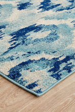 Load image into Gallery viewer, Lesley Whimsical Blue Runner Rug - Rug Empire