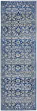 Load image into Gallery viewer, Gwyneth Stunning Transitional Navy Runner Rug - Rug Empire